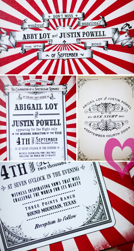 Two Ring Circus invitation -- photo montage by Jennifer Monnich