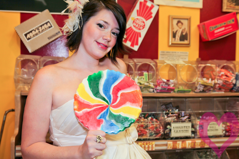 Austin bridal portrait, bridal portrait at Big Top candy store, Big Top candy store, Jessica Monnich
